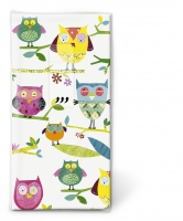 handkerchiefs TT Colourful owls