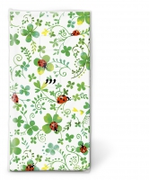 handkerchiefs - Ladybugs on clover