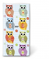 handkerchiefs - Funny owls