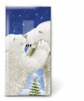 handkerchiefs Polar bear kiss
