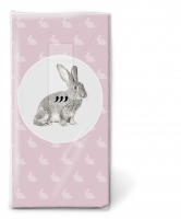 handkerchiefs - Portrait of rabbit