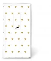 handkerchiefs TT Petits coeurs gold