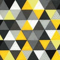 Cocktail Servietten Triangles yellow/black