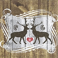 Cocktail napkins Stags in love