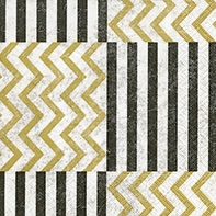 Cocktail napkins Zig Zag with stripes