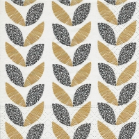 Cocktail napkins Graphic leaves