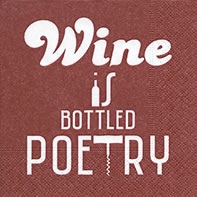 Serviettes cocktail  Bottled poetry red