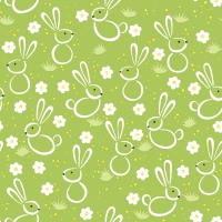 Napkins 25x25 cm - Easter meadow