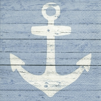 Napkins 25x25 cm - Anchor sign blue