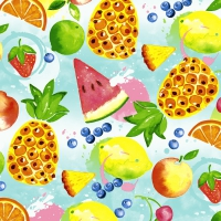 Cocktail napkins Tropical fruits
