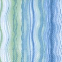 Serviettes cocktail  Blue waves