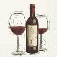 Napkins 25x25 cm - Vino Rosso