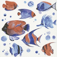 Napkins 25x25 cm - Tropical fish