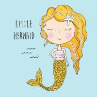 Napkins 25x25 cm - Little mermaid