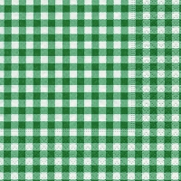 Servietten 25x25 cm - Neu Vichy Wald grün