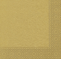 Cocktail napkins Uni gold