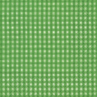 Cocktail napkins Vichy green