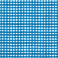Cocktail napkins Vichy blue