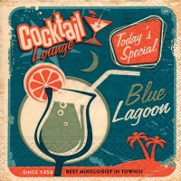Cocktail napkins Blue lagoon