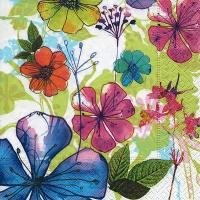 Lunch Servietten Flower collage