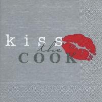 Lunch Servietten Kiss the cook