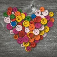 Lunch Servietten Colourful buttons