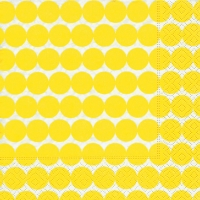 Lunch Servietten Dot pattern yellow