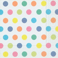 Lunch Servietten Pastel dots