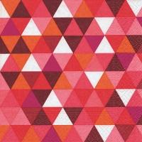 Lunch Servietten Triangles red