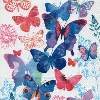 Lunch Servietten Symphonie de papillons