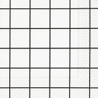 Lunch napkins Home square white/black
