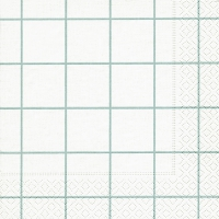 Lunch napkins Home square aqua/white