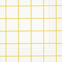 Lunch Servietten Home square white/yellow