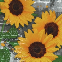 Lunch napkins Garden sunflowers