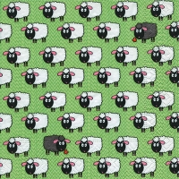 Lunch napkins Flock of sheeps