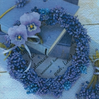 Lunch napkins Blue wreath