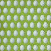 Lunch napkins White eggs green