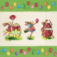 Lunch napkins Easter round dance
