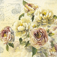 Serviettes lunch Vintage roses