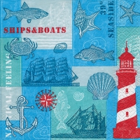 Lunch napkins Nautical feeling