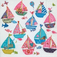 Lunch napkins Sai boats