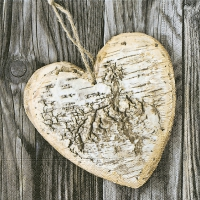 Lunch napkins Wooden heart