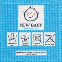 Serviettes lunch New baby blue