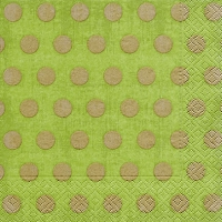 Lunch napkins Classic dots green