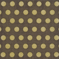 Lunch napkins Classic dots brown