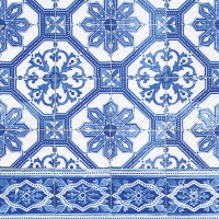 Serviettes lunch Blue tiles