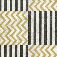 Lunch napkins Zig Zag with stripes