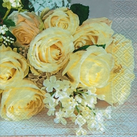Lunch napkins Wedding roses