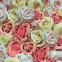 Lunch napkins Festive roses