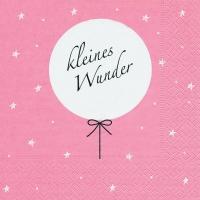Lunch napkins Kleines Wunder rosa